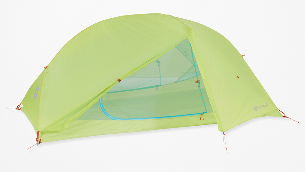Lightweight robust two man Tent for three season camping Marmot Superalloy 2P, with Vertical walls create more head room and seam-taped bathtub floor.