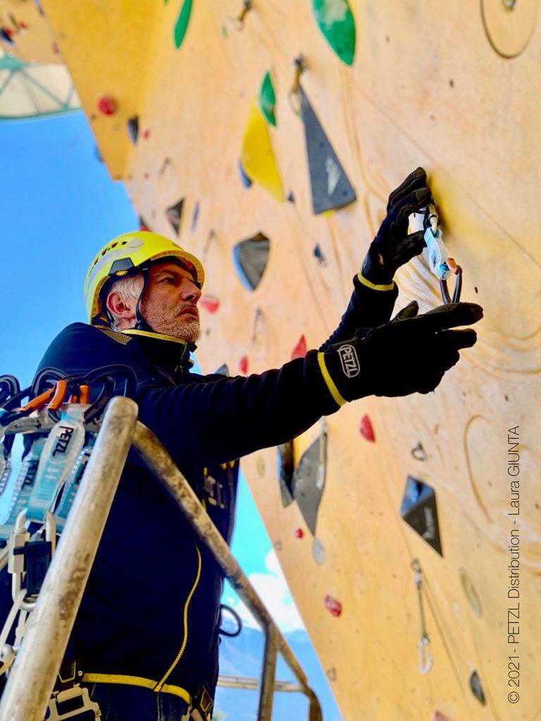 Severino Scassa al Centro Tecnico Federale di preparazione Olimpica nato nella struttura del Rock Master di Arco di Trento © Laura Giunta