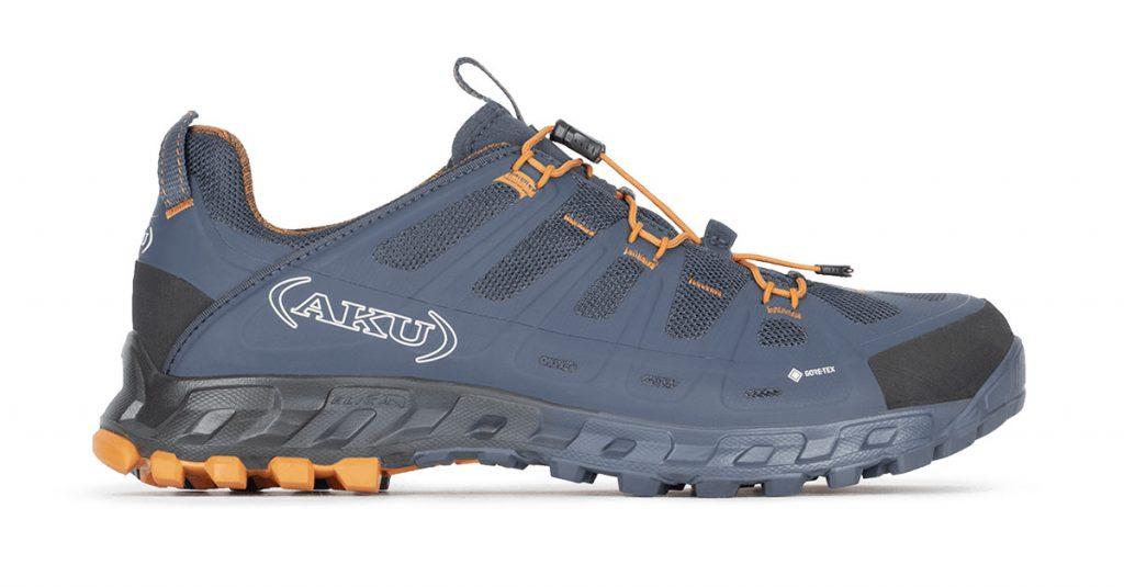 Scarpe da hiking e trekking leggeri AKU Selvatica GTX, per muoversi velocemente in montagna in totale comfort. Massima leggerezza, traspirabilità e supporto