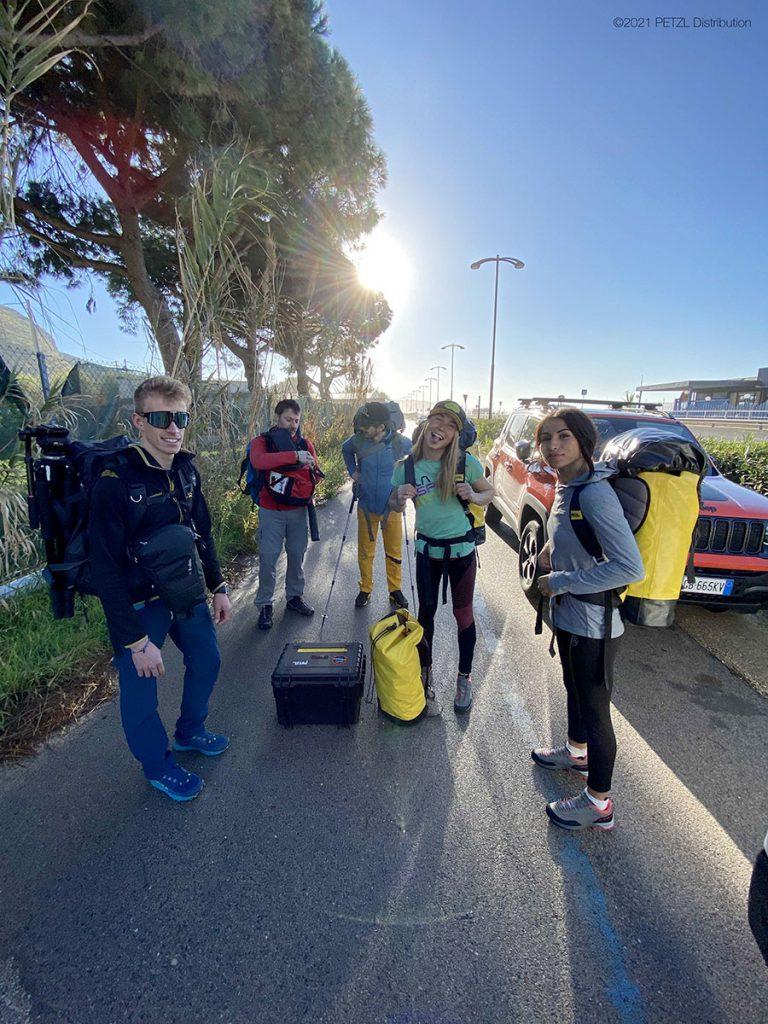 Il team del Petzl Legend Tour Italia a Sperlonga © Petzl Distribution