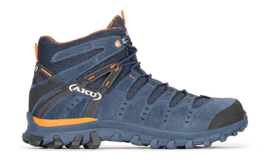 Scarpa leggera multiterrain e hiking AKU Alterra Lite Mid GTX, versatile e traspirante, per utilizzo dinamico su terreni di media difficoltà.