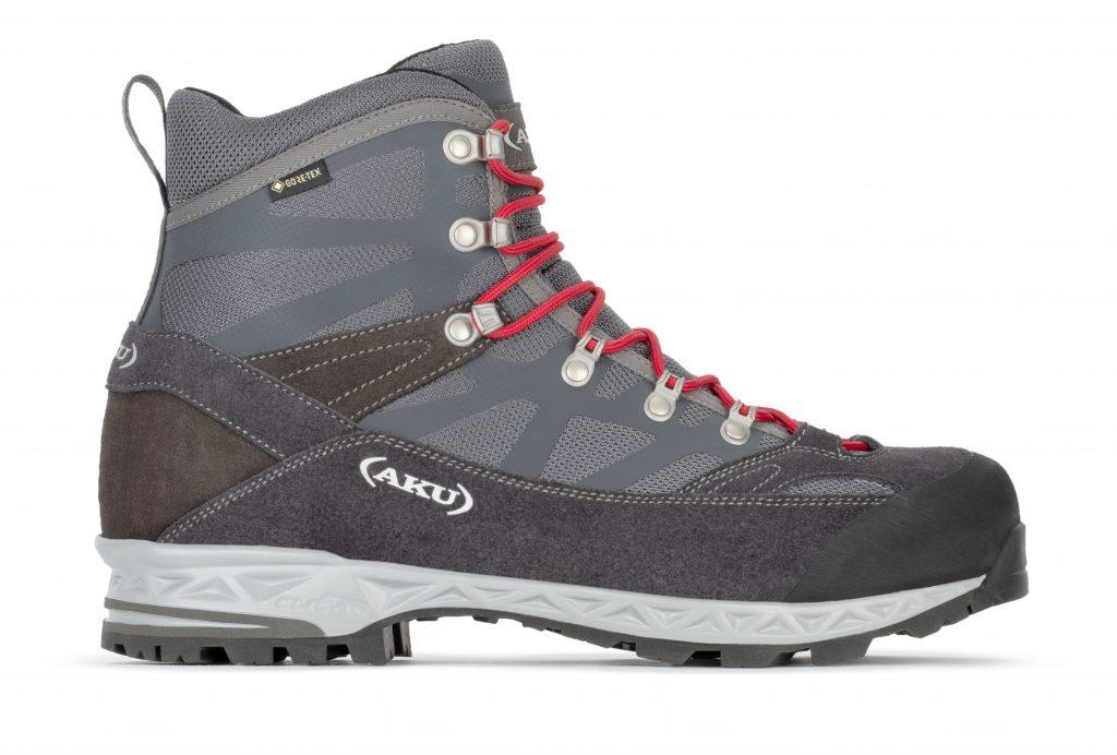 Scarpe da trekking AKU Trekker Pro GTX, ideali per escursioni giornaliere di media difficoltà su terreni misti.