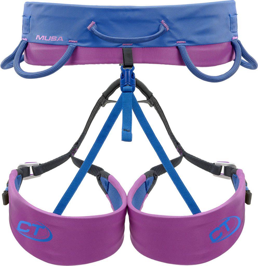 Imbrago arrampicata donna Climbing Technology Musa, contraddistinta da una forma appositamente studiata per l'anatomia femminile