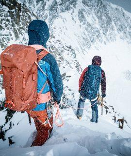 Zaini Ortovox; ecco DRY, la prima linea Ortovox di zaini per arrampicata e alpinismo resistenti alle intemperie, con tre modelli realizzati completamente senza PFC.