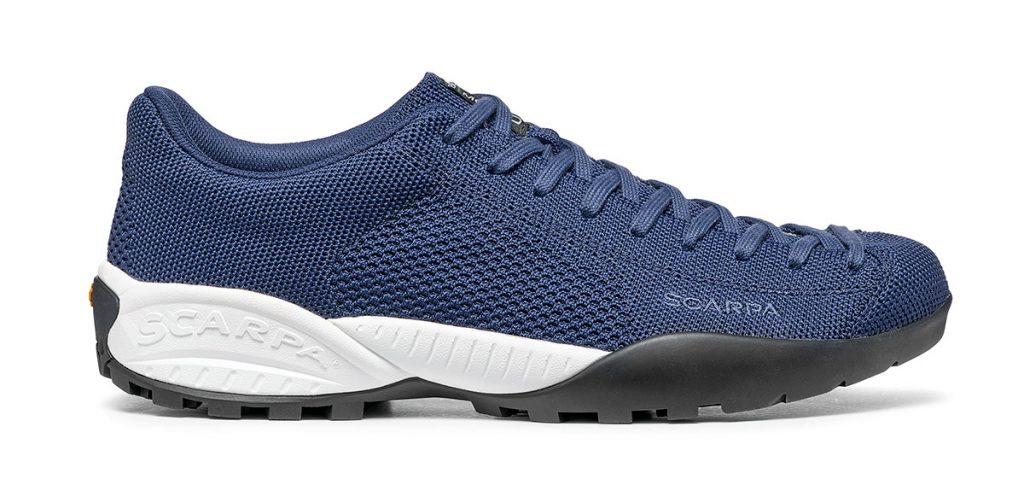 Le scarpe Mojito Bio: il primo prodotto di SCARPA costituito da componenti di origine vegetale e certificato 100% biodegradabile.