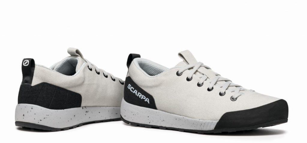 Realizzata in materiali eco-sostenibili, Spirit è la calzatura sostenibile frutto delle conoscenze e delle tecnologie di SCARPA