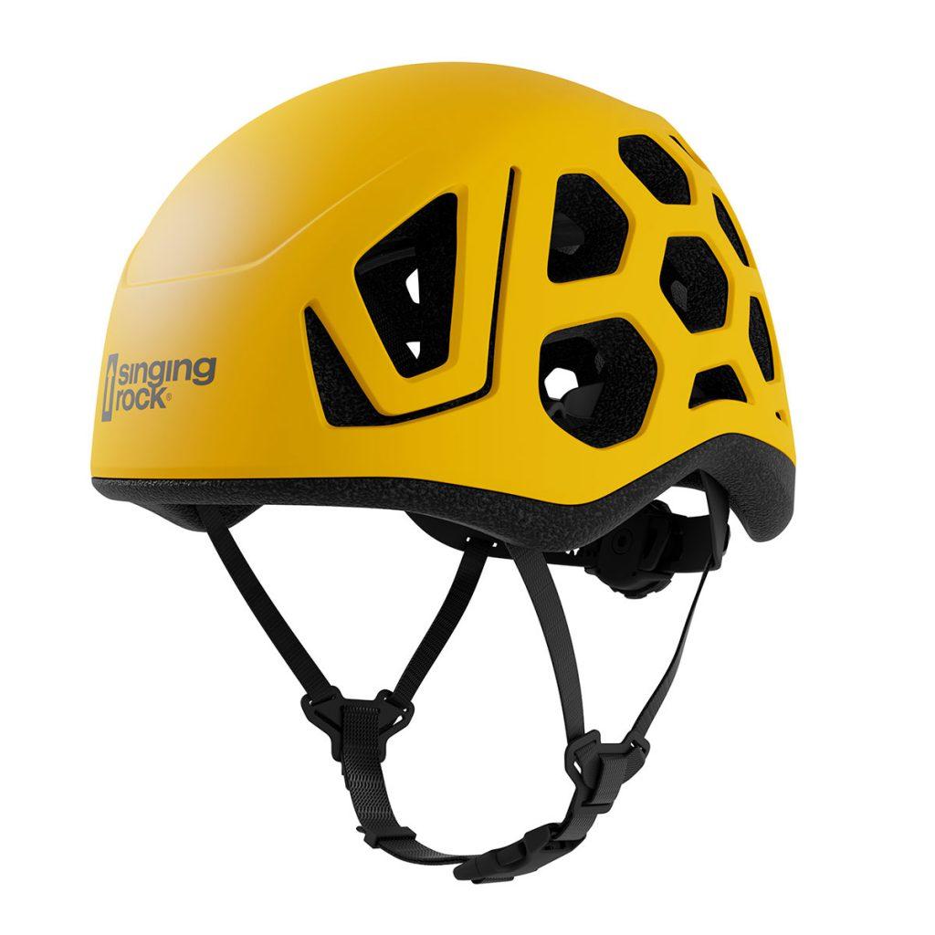 Leggero e resistente casco arrampicata e alpinismo Singing Rock Hex, completamente ventilato, adatto sia per l'arrampicata sportiva che trad e via ferrata.