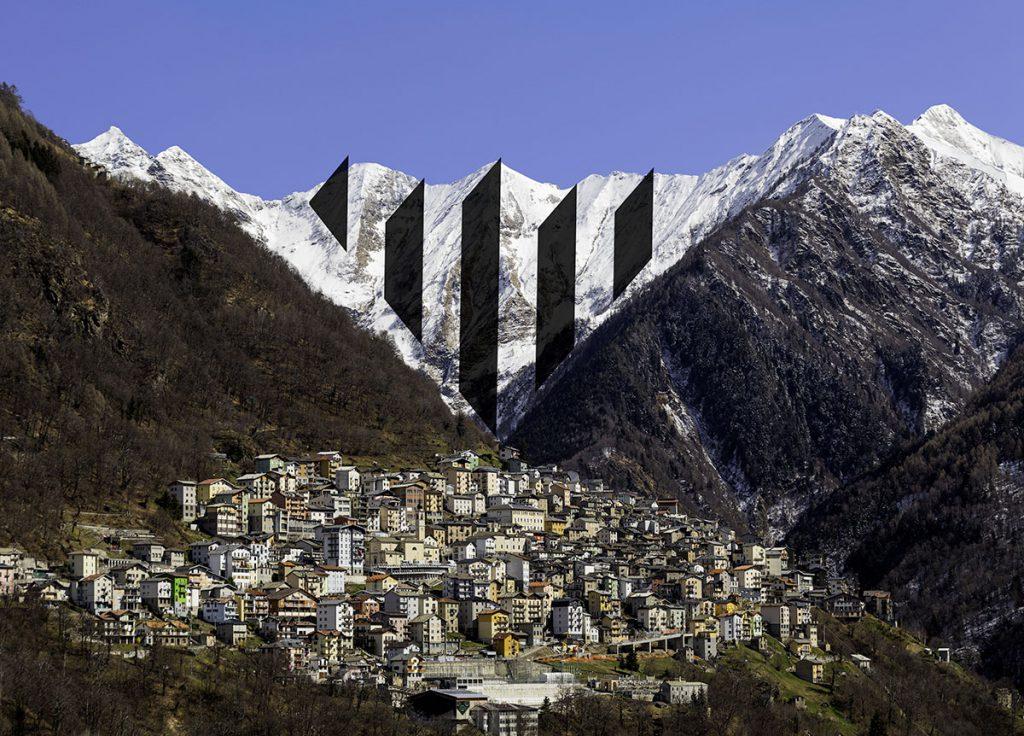 Le montagne della testata della Valvarrone, a cui è ispirato il pittogramma, motore grafico del rebranding CAMP