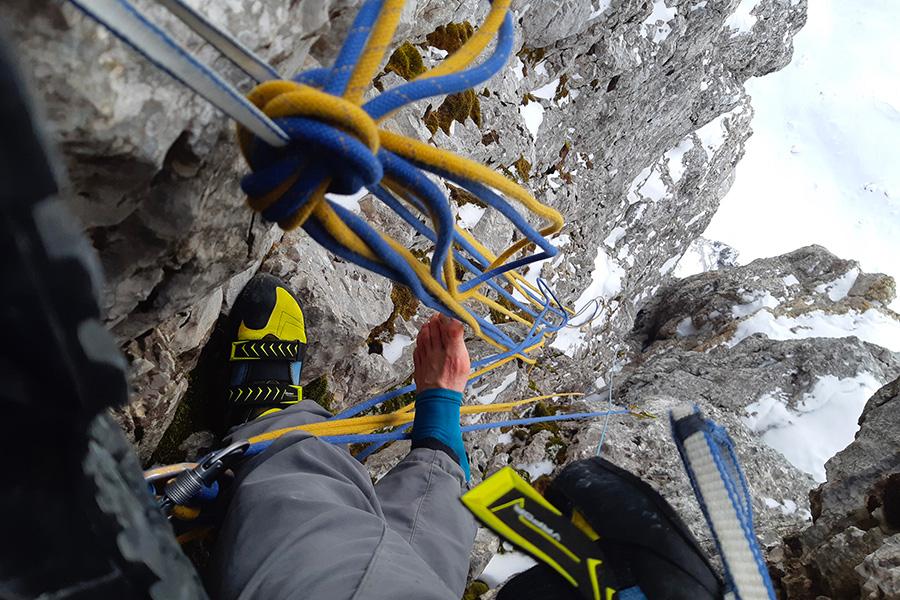 Giovanni Zaccaria durante l'invernale di W Mexico Cabrones di Venturino Di Bona nell'inverno 2021 realizzata assieme a Alessandro Baù e Thomas Gianola.